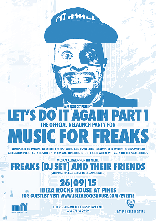 Music For Freaks Relaunch Party Poster
